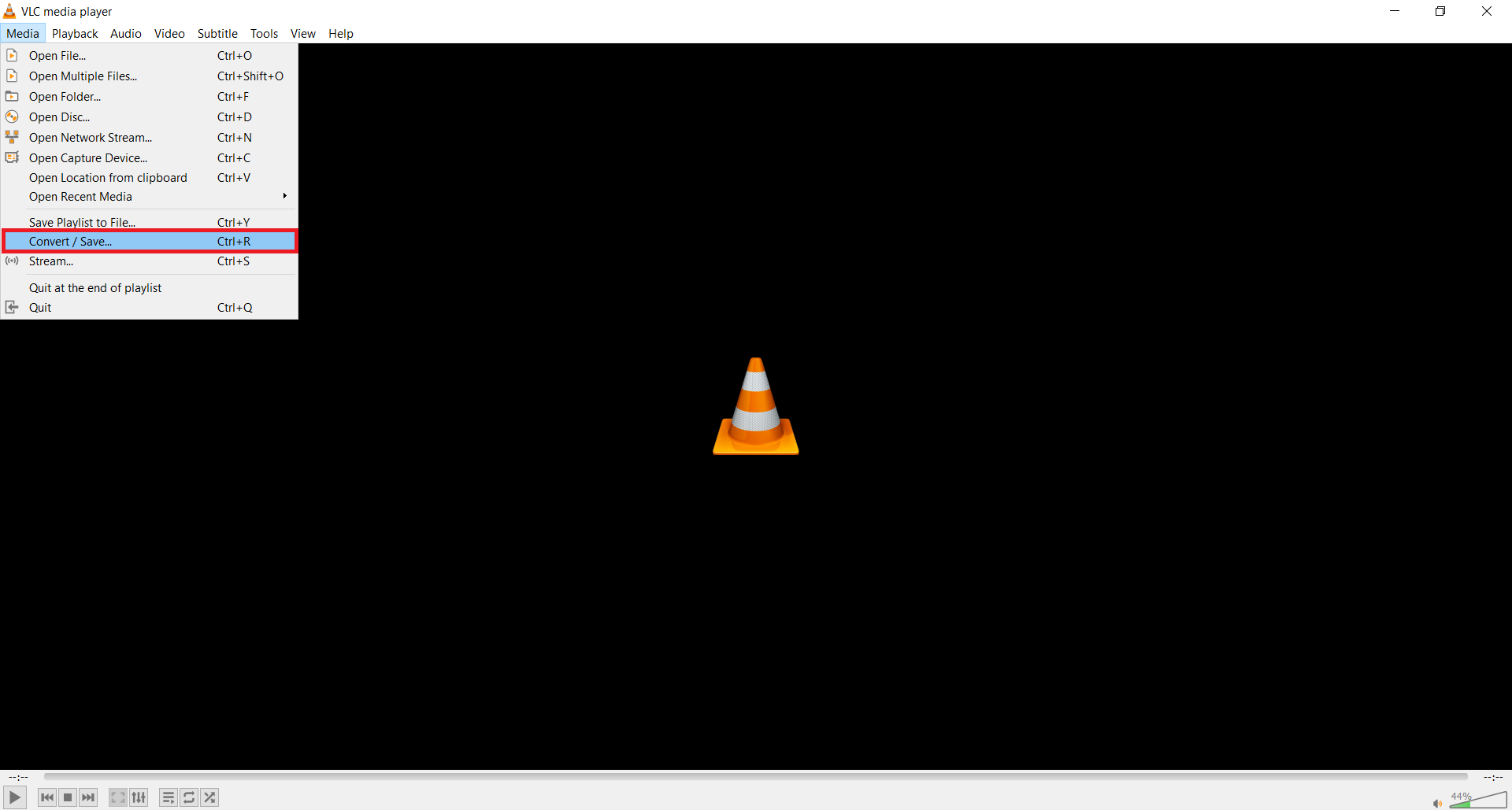 How to convert WAV to FLAC using a VLC media player?