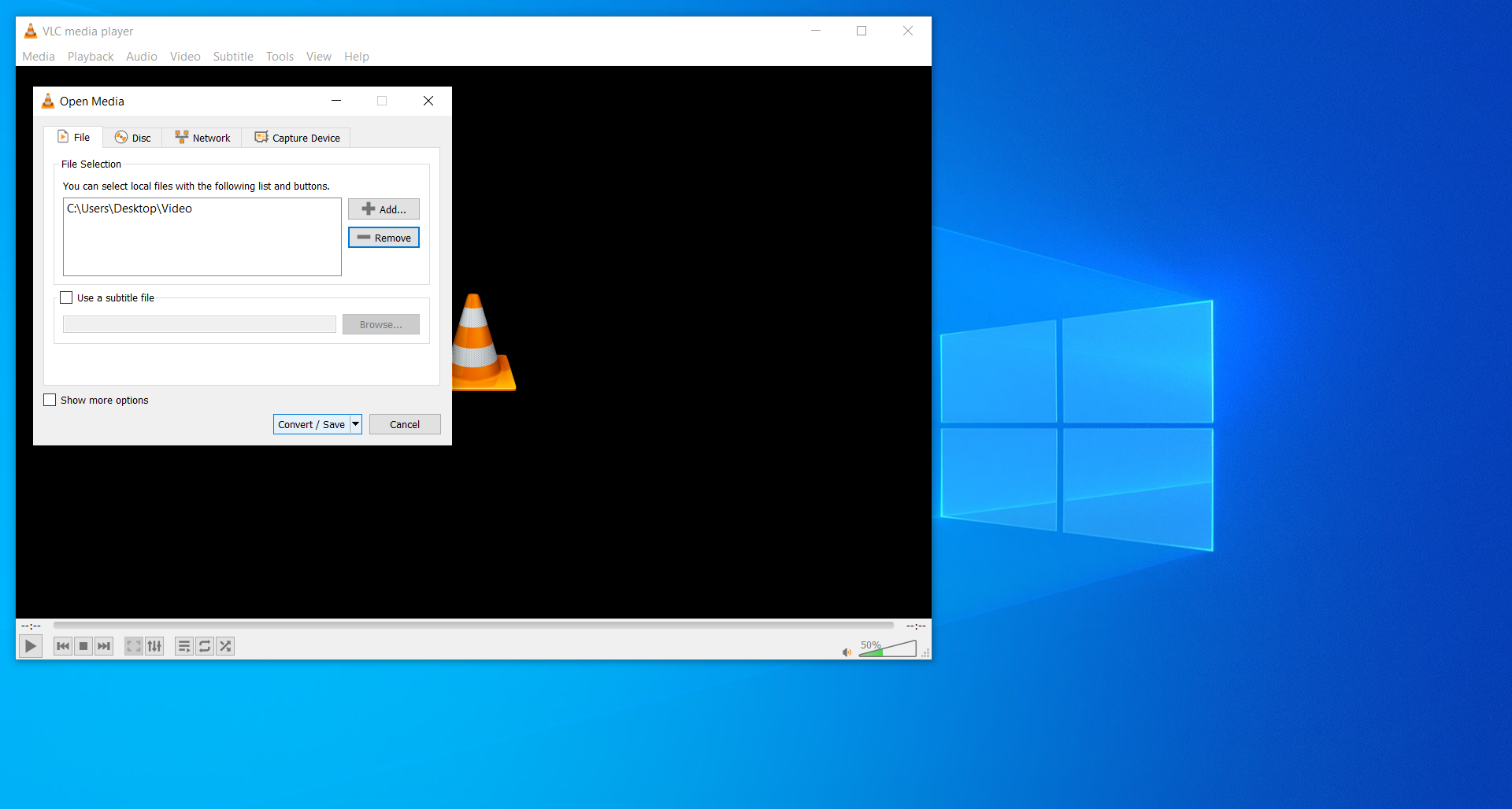 How to reduce video file size to send via e-mail using VLC Media Player?