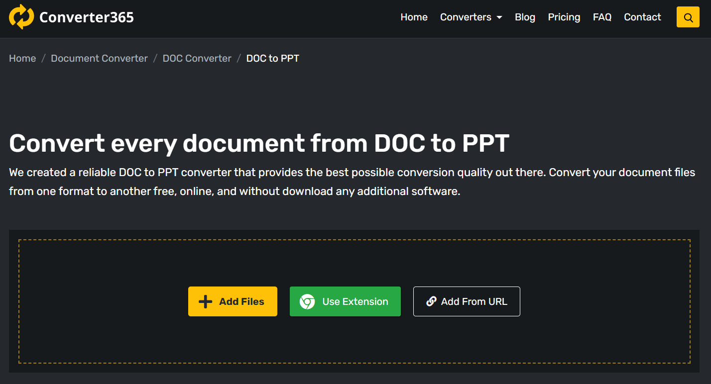 How to convert DOC to PPT free online?