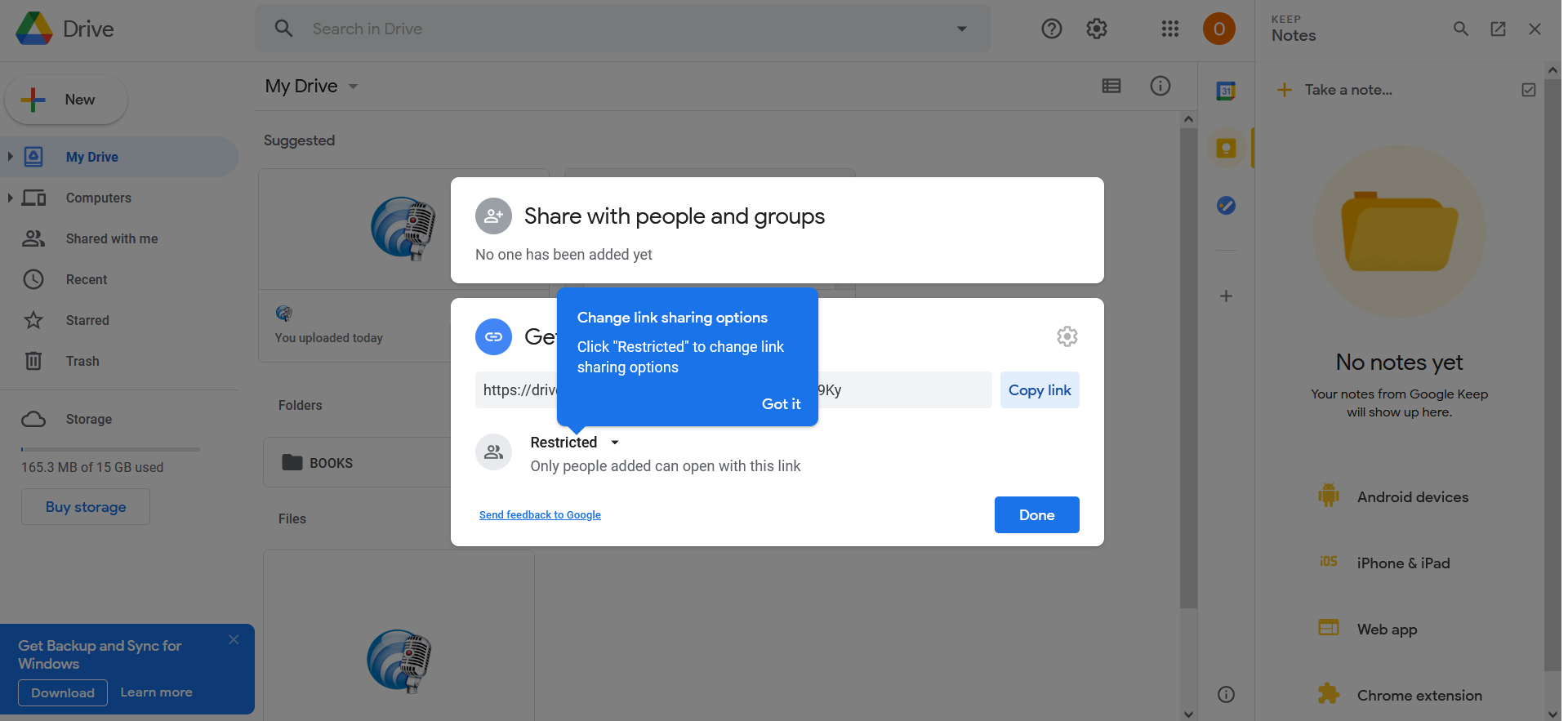 How to compress a large video file for e-mail using Google Drive?