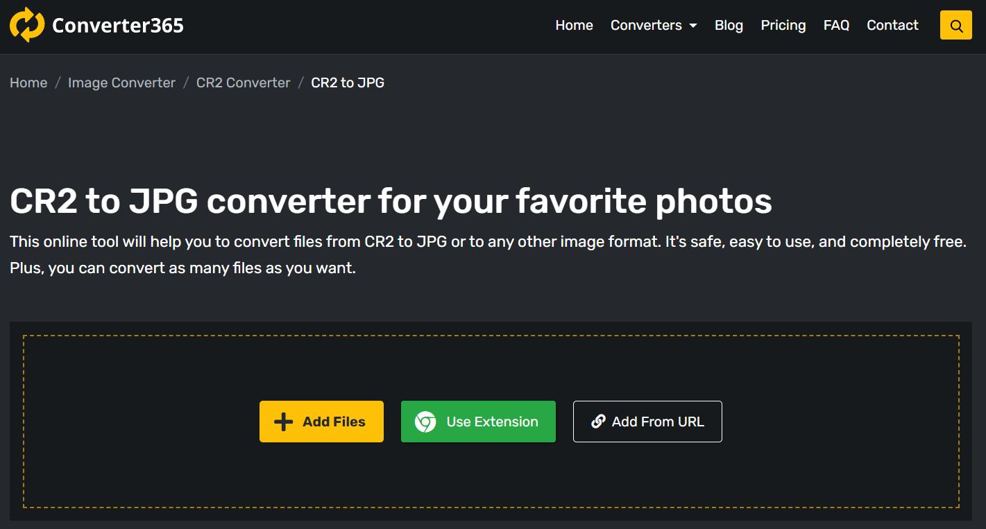 Best RAW converter online - Converter365