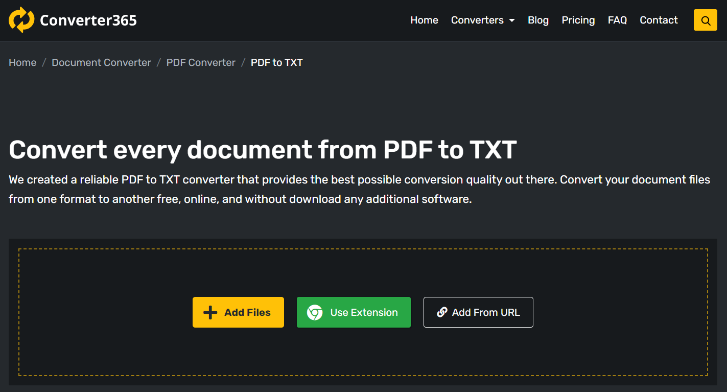 How to convert PDF to TXT for free online?