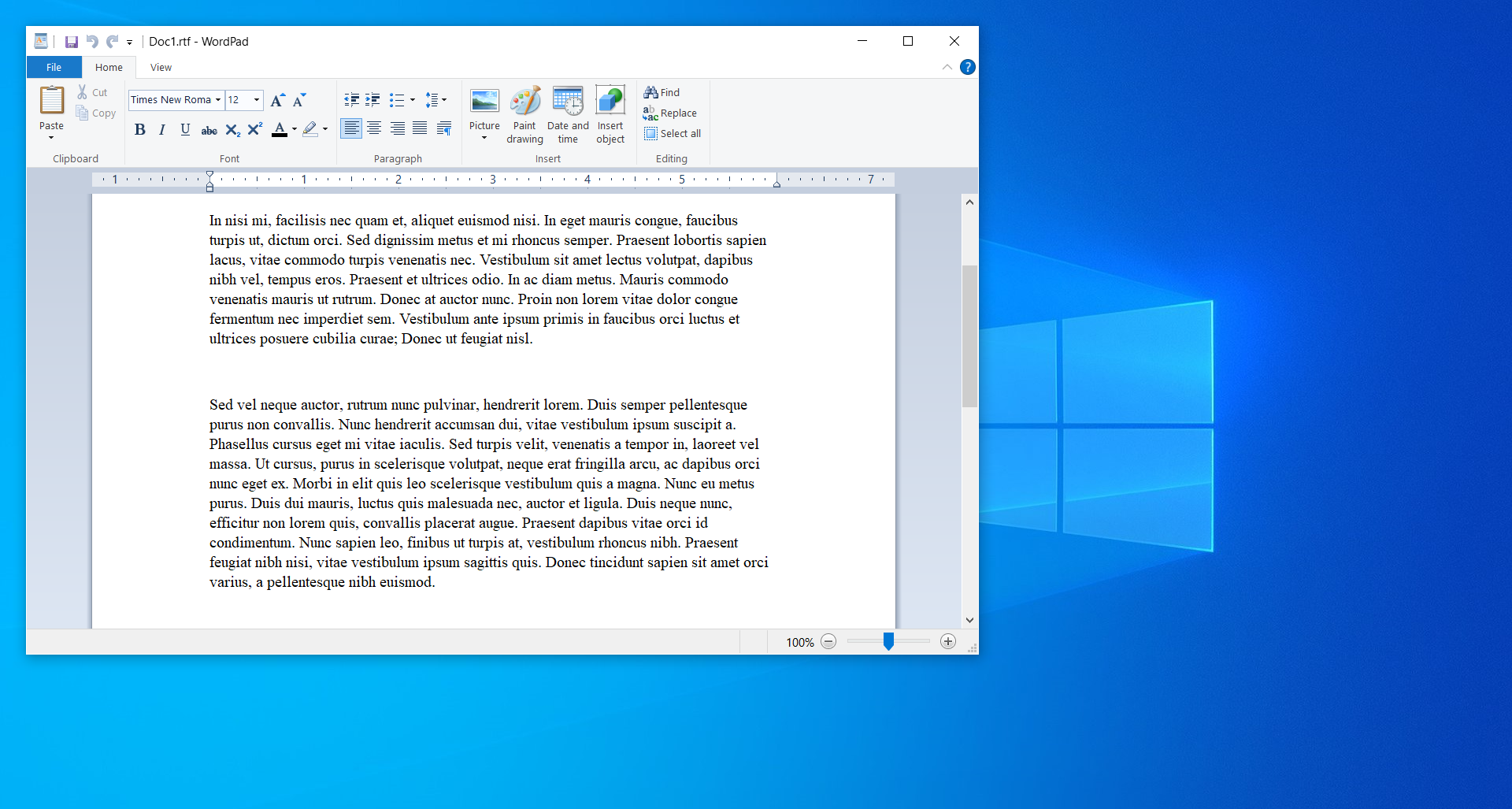 How to use WordPad as RTF to DOCX converter on Windows?