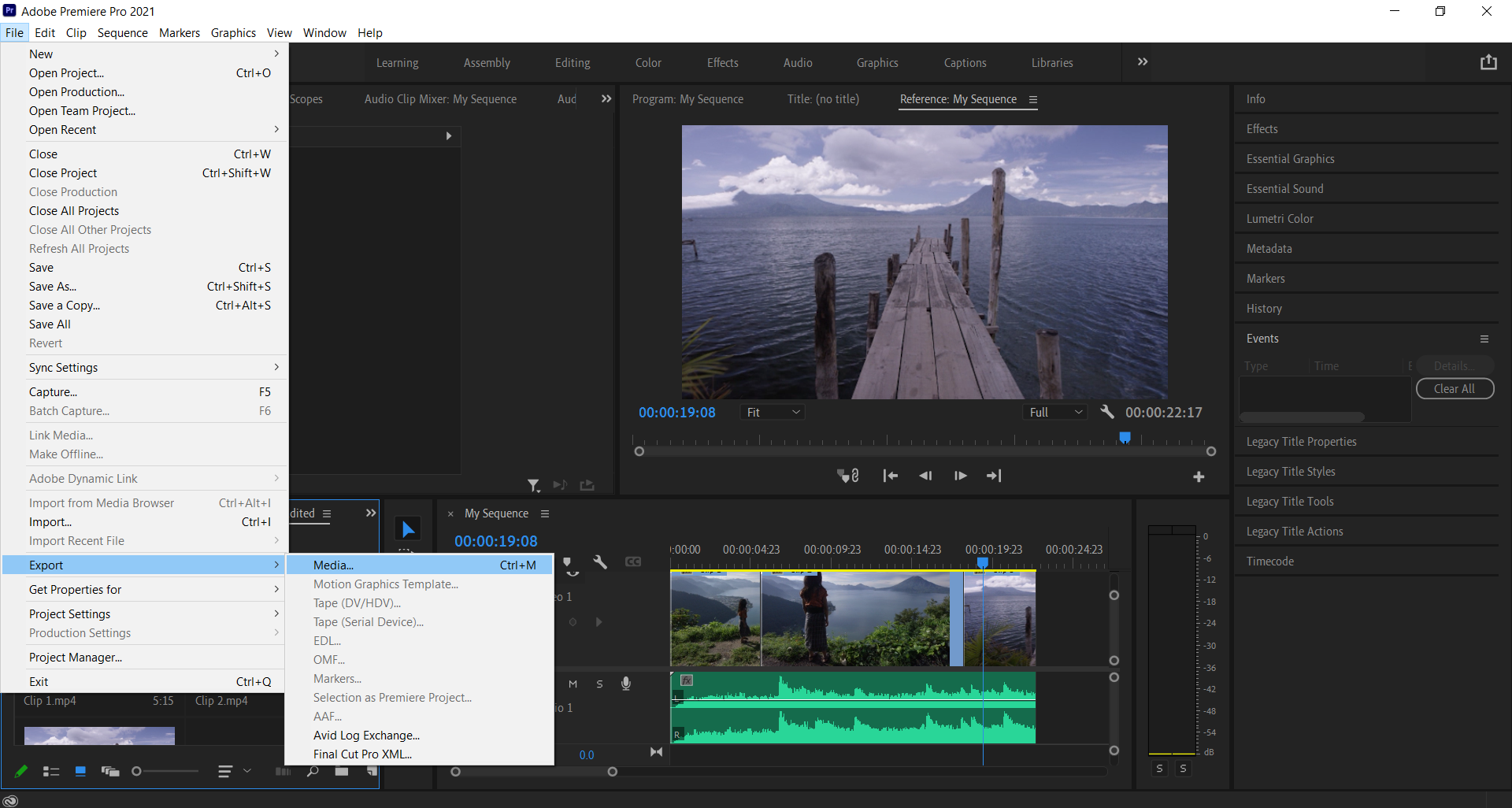 How to export Adobe Premiere to MP4 in few easy steps?
