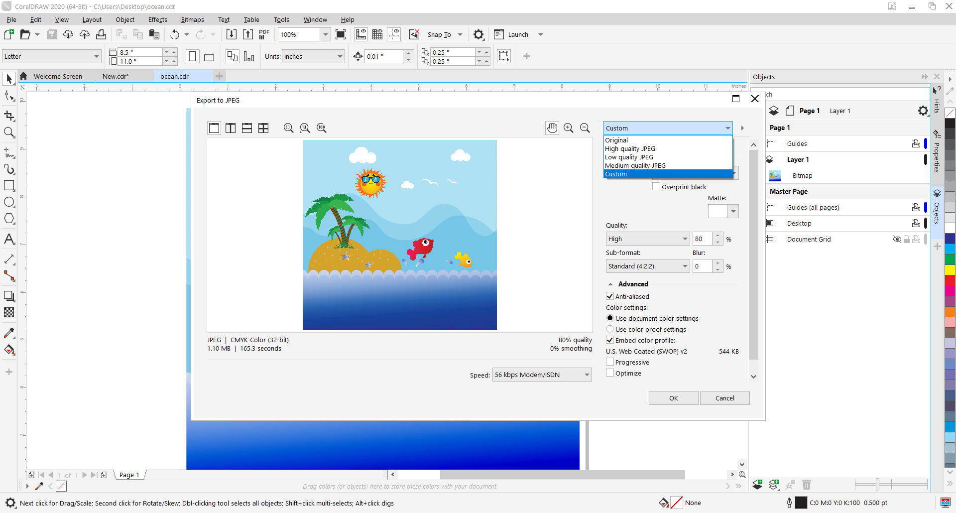 How to use CorelDRAW as a CDR file converter?