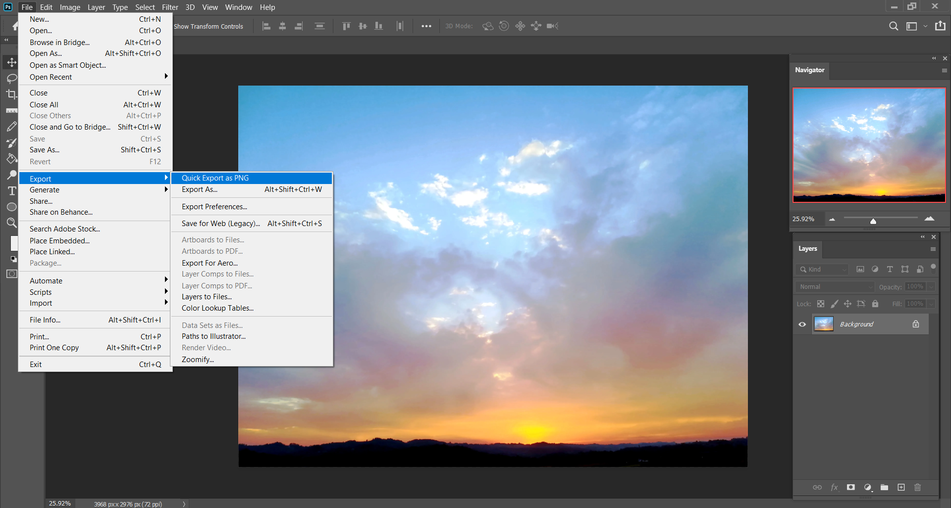 How to convert WEBP to PNG using Photoshop?