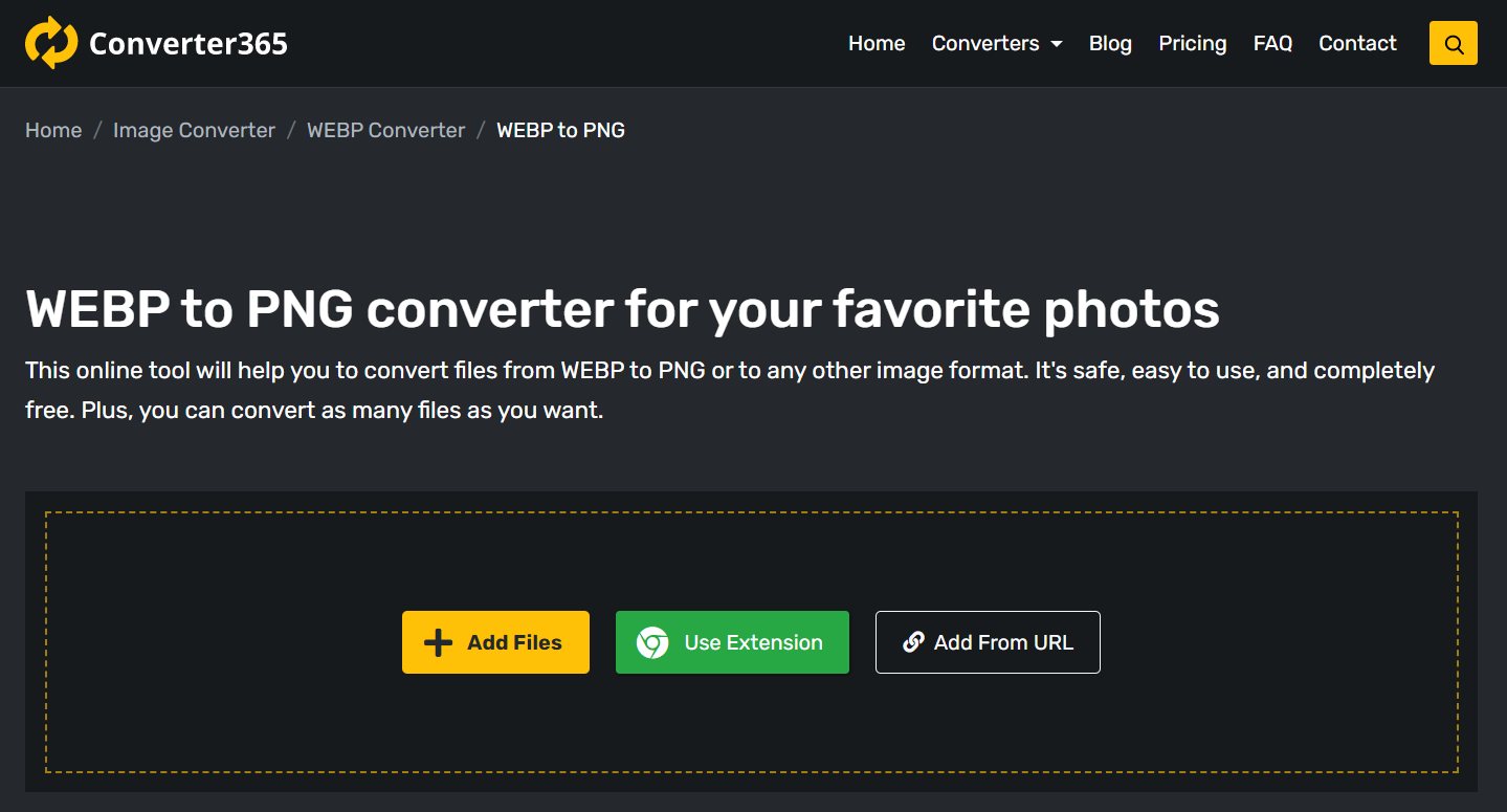 How to convert WEBP to PNG for free online?
