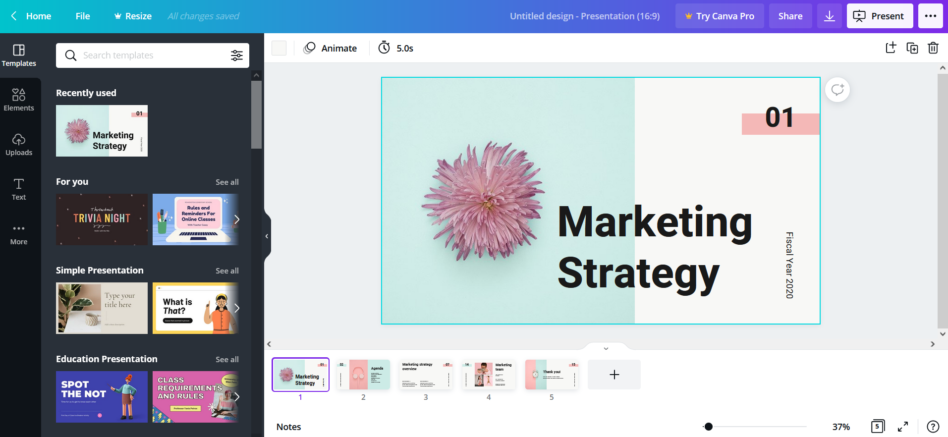 Make PowerPoint online using Canva