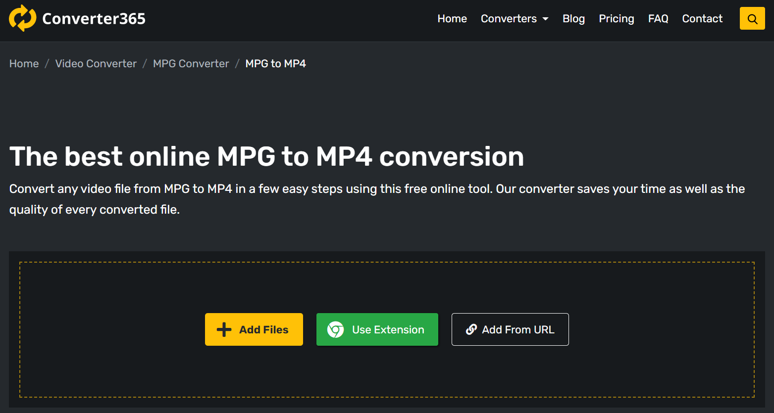How to convert MPG online for free?