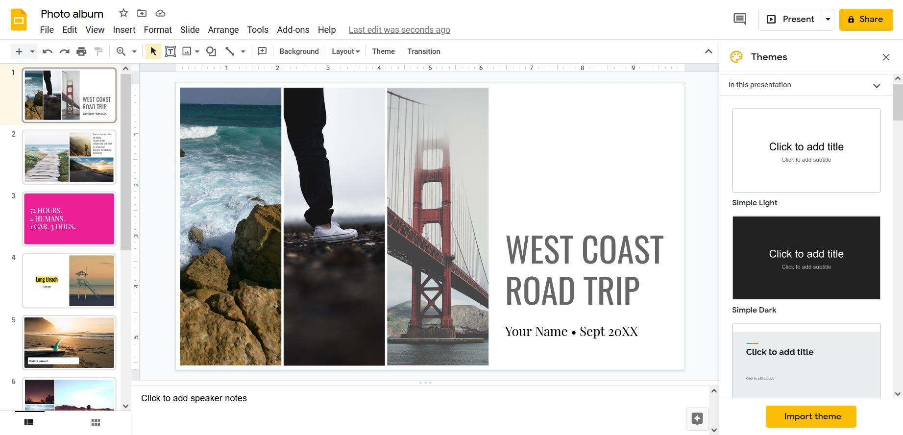 Make PowerPoint online using Google Slides