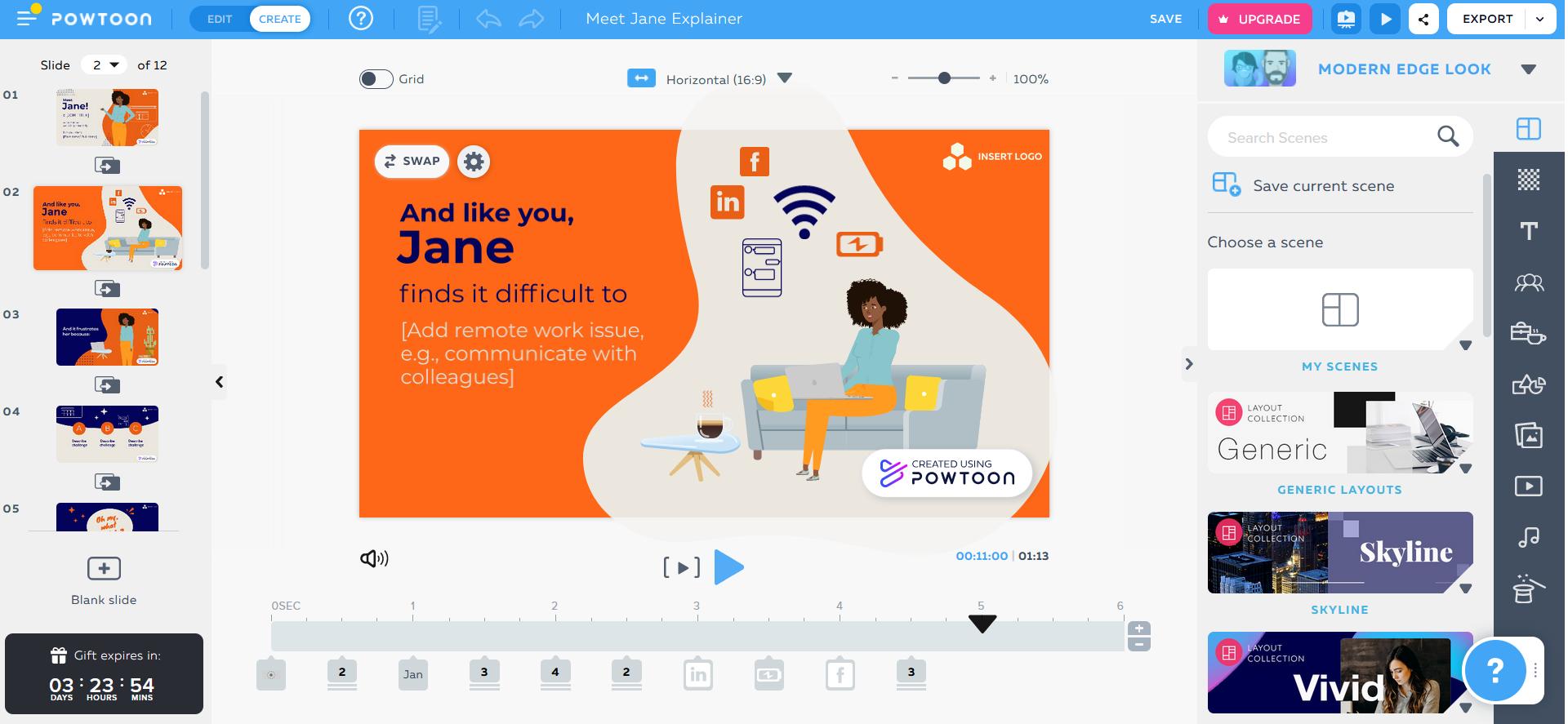 Make PowerPoint online using PowToon