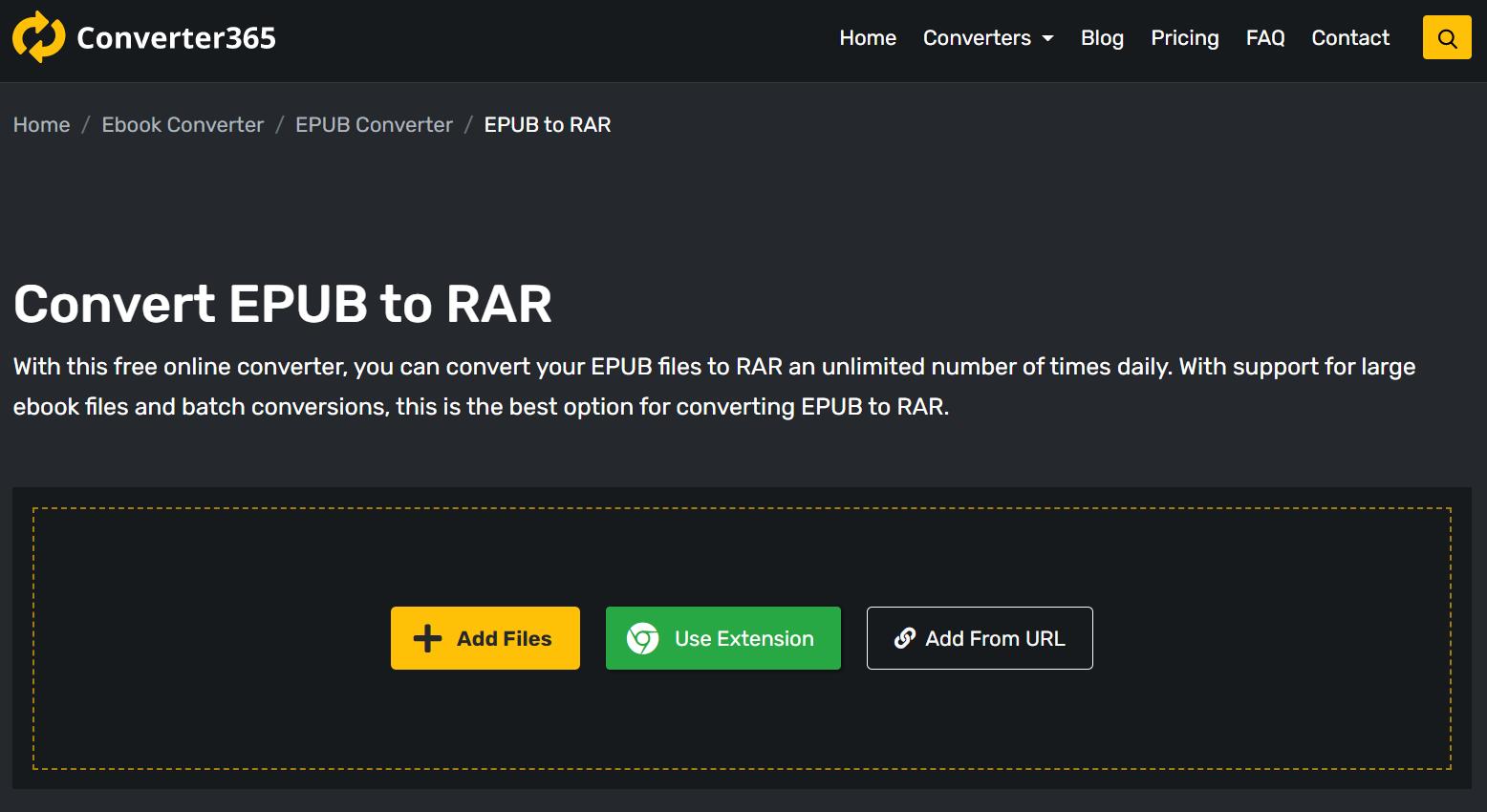 How to convert EPUB to RAR files?